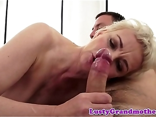 Hairypussy GILF Pounded From Behind