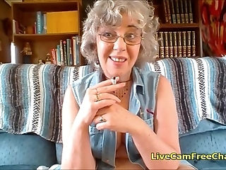 Exciting Granny With Short Curly Hair And Glasses Has Teenage
