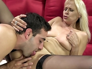 Young Lover Eats Wet Pussy Of My Slutty Old Granny