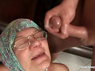 Old Granny Is Still A Male Pole Thirsty Woman