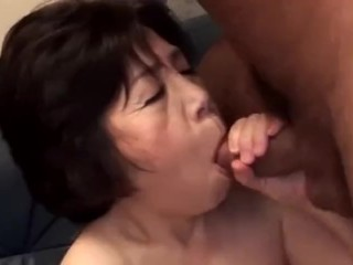 Asian Granny Suck Cock 2