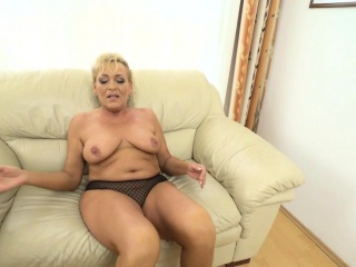Busty Grandmother Spunked