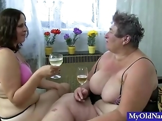 Two Guys Fucking Two Milf Bimbos