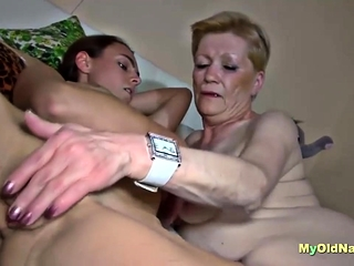 Granny In Threesome With A Coed Couple