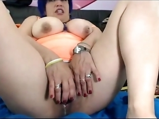 Busty 45 Year Old Latina Wife Teasing On Webcam