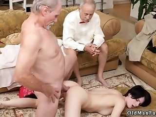 Sweet Old Granny And Daddy Wants Teen Pussy XXX Frannkie Heads Down The