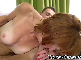 Stockings GILF Cum Soaked