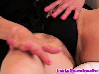 Highheeled Grandma Gets Hairy Pussy Banged