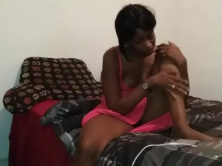 Neighbor Next Door Ava Carter Skinny Granny ..on My Bed Solo Light Rub