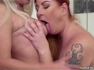 Lesbian Housewives Kathy And Alex Fooling Around