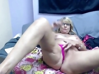 Kinky Grandmother Masturbates Her Old Pussy