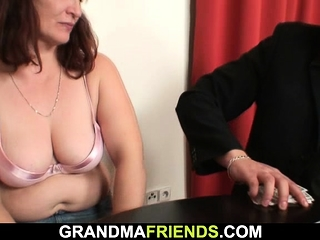 Old Granny Loses Strip Poker And Fucked