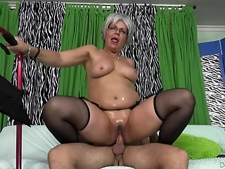 Grey Haired Granny Kelly Leigh Fucked To Intense Squirting Orgasm
