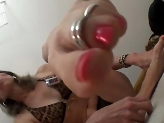 Sexy Granny Contortionist Goldsole57 In A Bikini Worships Her Feet