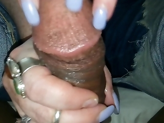 72year Old Italian Grandma Long Nail Scratching Handjob